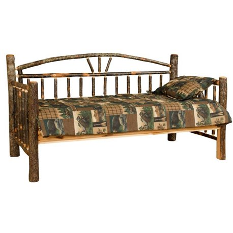 Rustic Hickory Log Day Bed