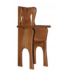 Toy Doll Oak High Chair