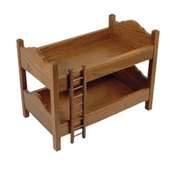 Toy Doll Oak Bunk Bed
