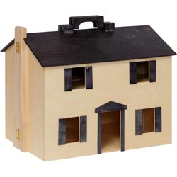 Front View Folding Doll House with Handle