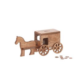 Children's Wood Horse and Buggy