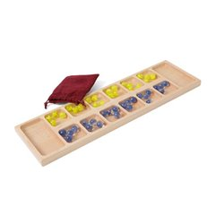 Children's Wooden Toy Mancala Game Board