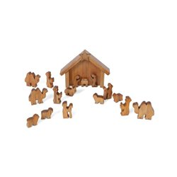 Wooden Toy Nativity Scene with Animals