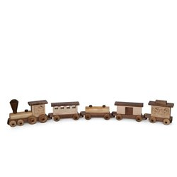 Large Wooden Train - 5 Pieces including Engine