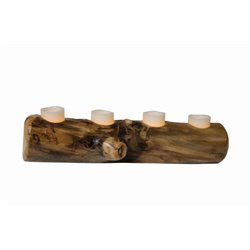 Rustic Aspen Log Candle Holder