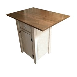 Small Primitive Kitchen Island in Counter Height