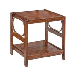 Oak 2 Tier End Table in Michael's Cherry Stain