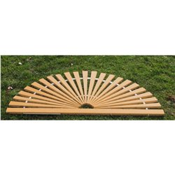 Wood Sunburst Door Mats in Red Cedar - Large
