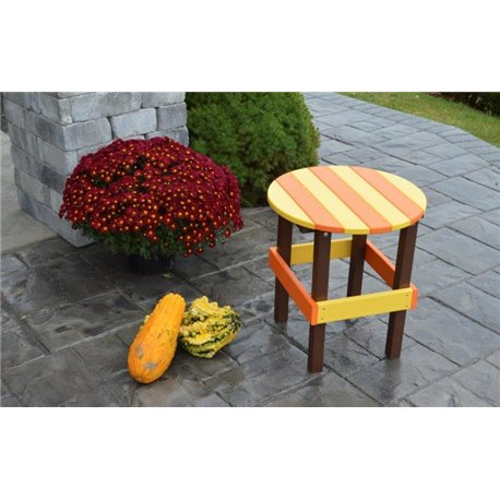 Poly outdoor round side table for Orange outdoor side table