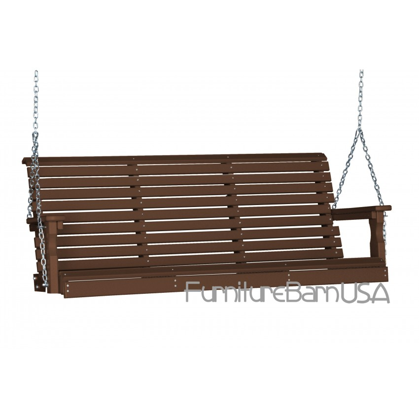 Poly 5 Foot Rollback Outdoor Porch Swing Furniturebarusa
