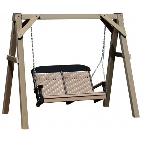 Polywood 4 Foot Highback Swing with A-Frame