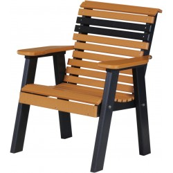 Poly 2 ft. Classic Plain Bench / Chair - Cedar and Black
