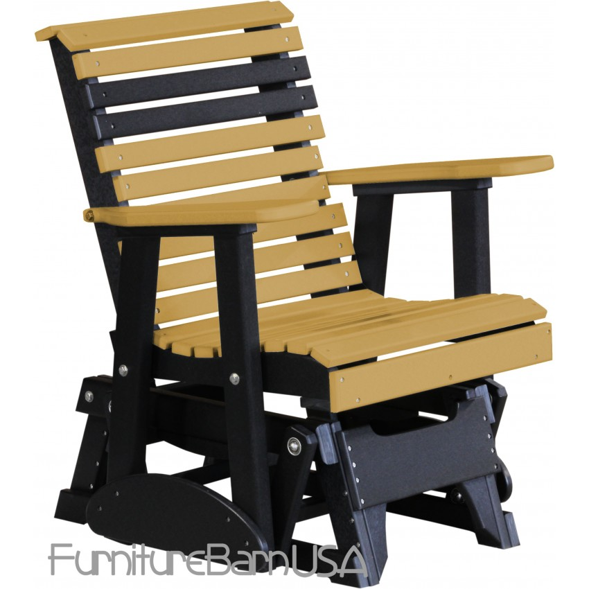 Poly Outdoor 2 Foot Rollback Glider Chair Bench Furniturebarusa