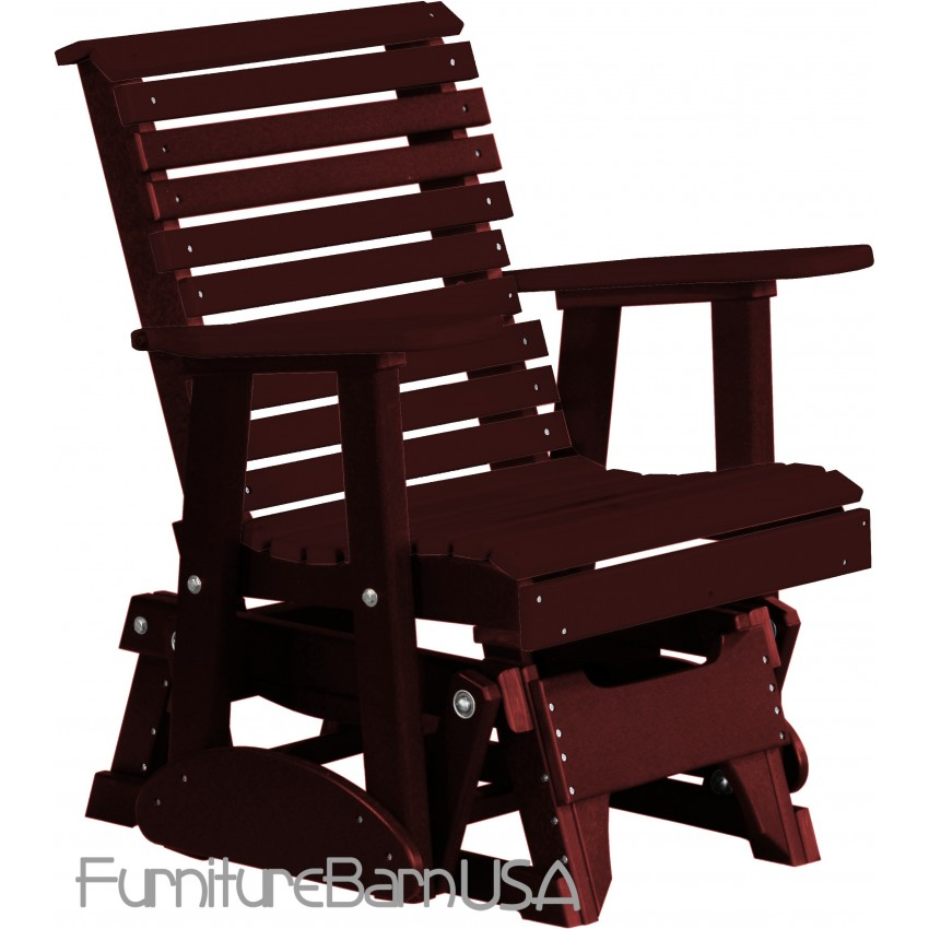 Poly Outdoor 2 Foot Rollback Glider Chair Bench