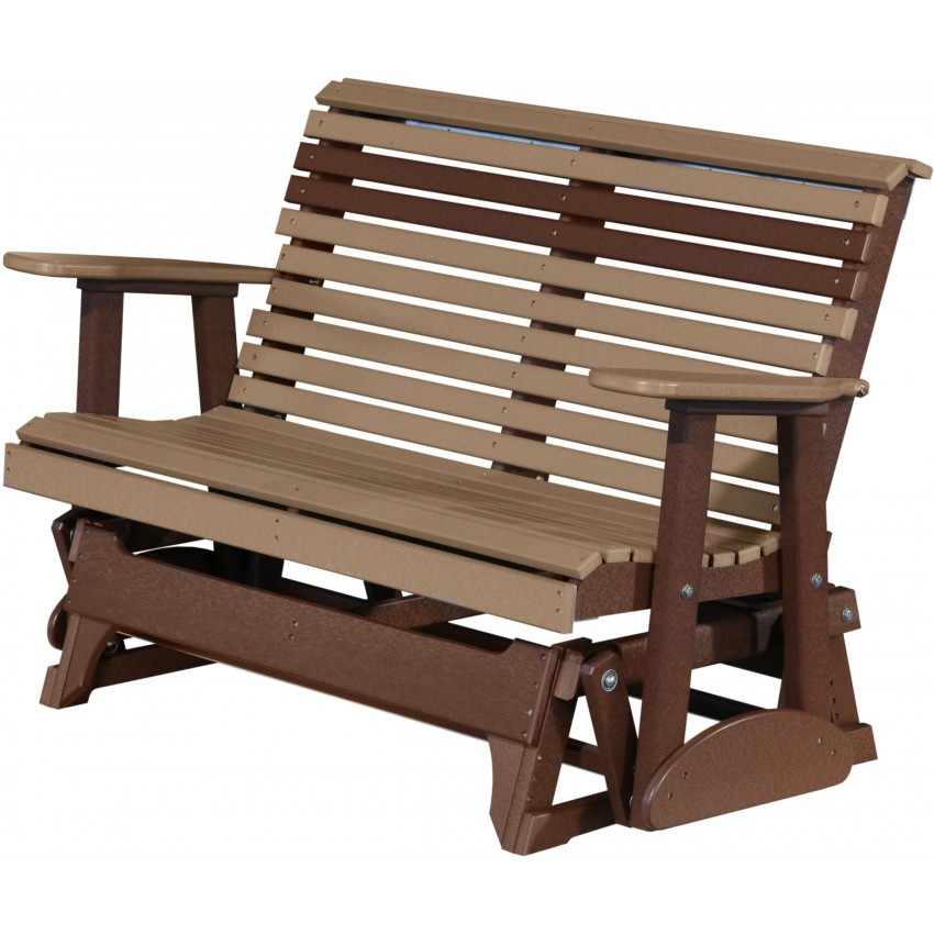 Poly Outdoor 4 Foot Rollback Glider Bench Furniturebarusa