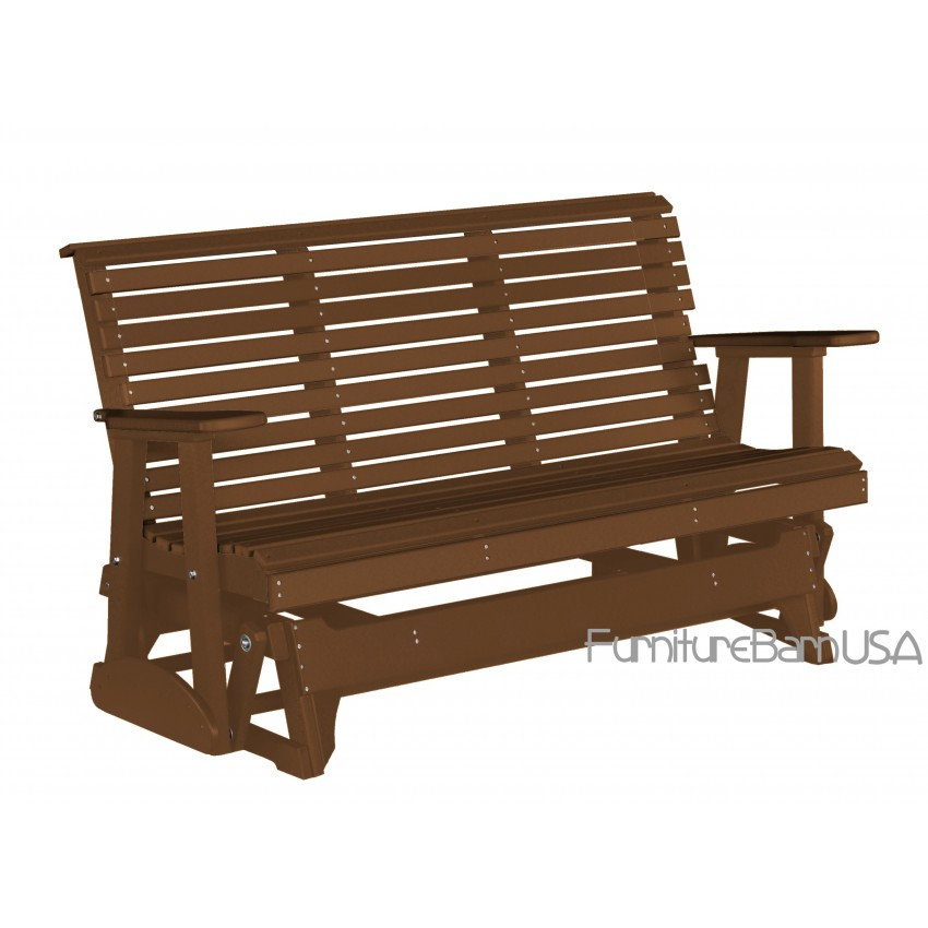 Luxcraft Polywood Outdoor 5 Foot Rollback Glider Bench Krestview Amish