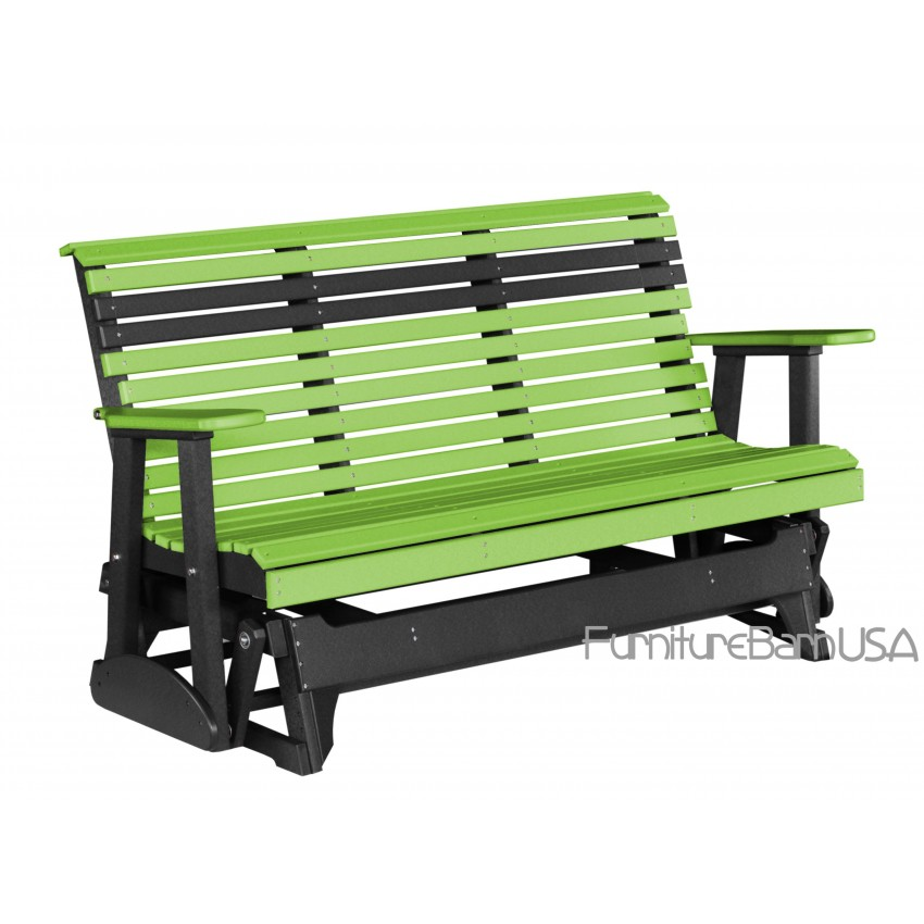 Luxcraft Polywood Outdoor 5 Foot Rollback Glider Bench
