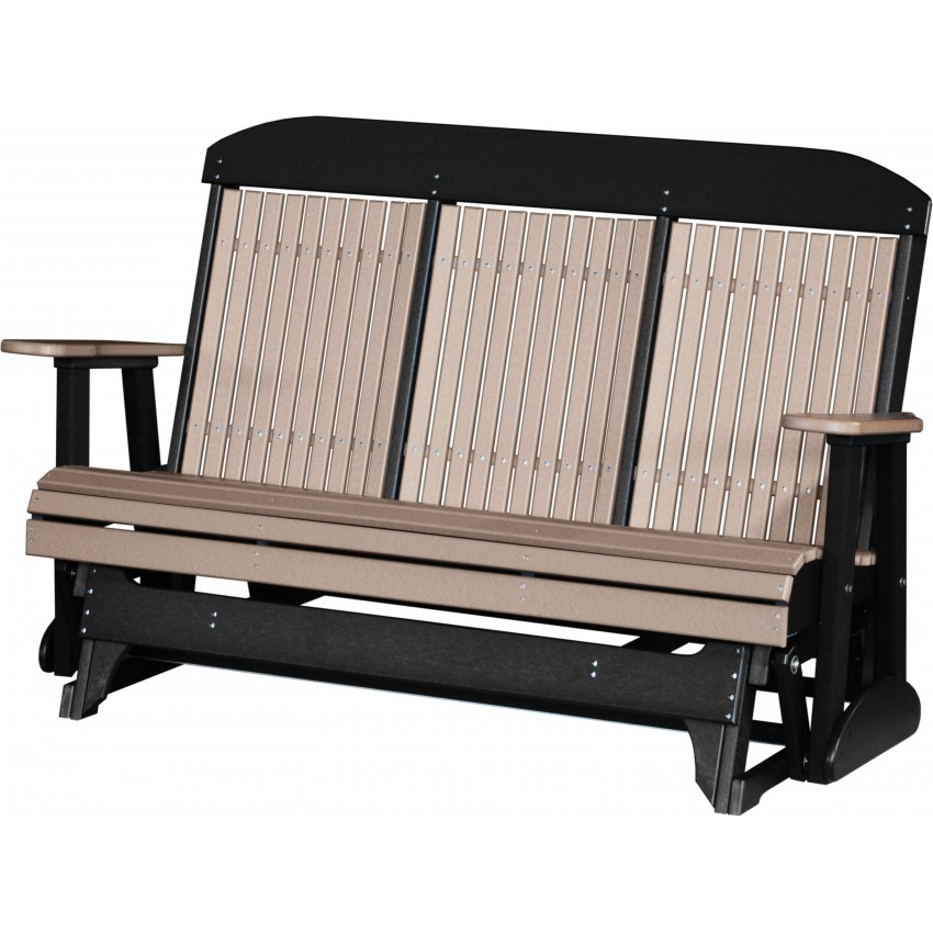Luxcraft Polywood Outdoor 5 Foot Highback Glider Bench