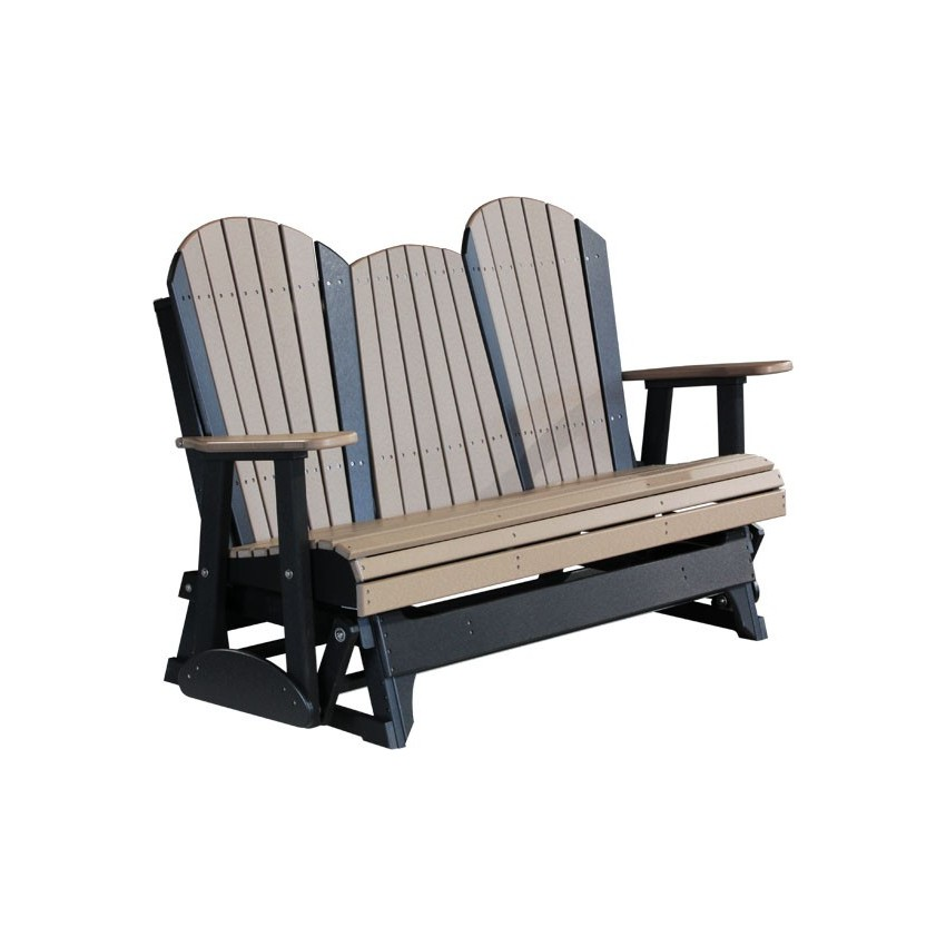 Poly Outdoor 5 Foot Adirondack Porch Glider Bench