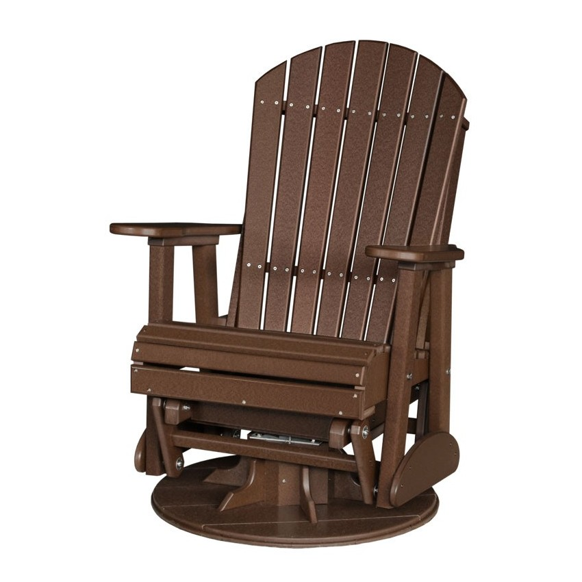 Poly Outdoor 2 Foot Adirondack Swivel Porch Glider Bench