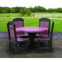Poly Outdoor 4 Foot Round Table and 4 Chairs - Dining, Counter, or Bar Height