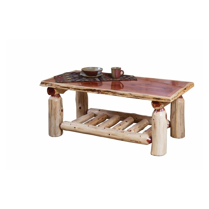 Rustic Red Cedar Log Coffee Table Furniture Barn Usa