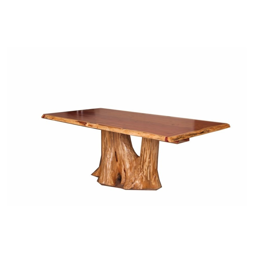 Rustic red cedar log bar stool bar or counter height stool for Dining table without chairs