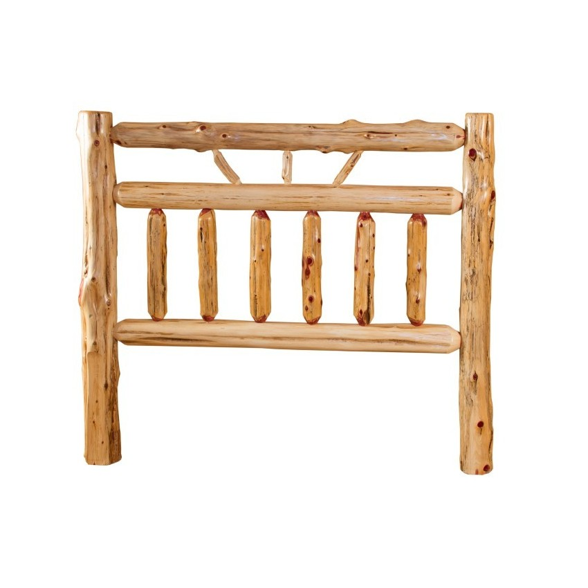 Rustic Red Cedar Log Bed Wagon Wheel Style HEADBOARD ONLY