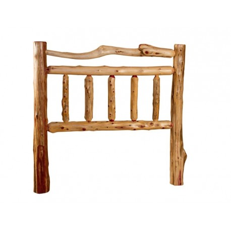 Rustic Red Cedar Log Bed - Mission Style -*HEADBOARD ONLY*