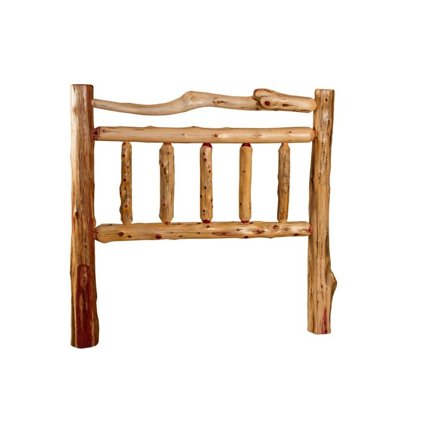 RUSTIC RED CEDAR LOG MISSION STYLE HEADBOARD ONLY