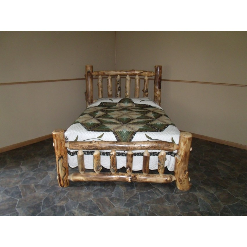 Rustic Aspen Log Complete Beds Mission Style Headboard