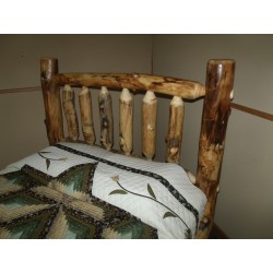 Rustic Aspen Log Mission Style Headboard