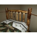 Rustic Aspen Log Bed Headboard ONLY- Mission Style