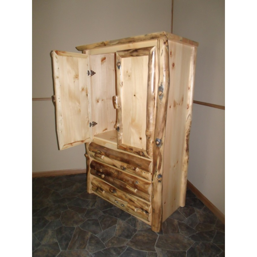 Aspen log bedroom furniture rustic furniture rustic aspen log silver creek cali king bed - Log bedroom furniture ...