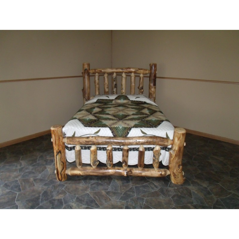 Rustic Aspen Log Complete BEDROOM SET