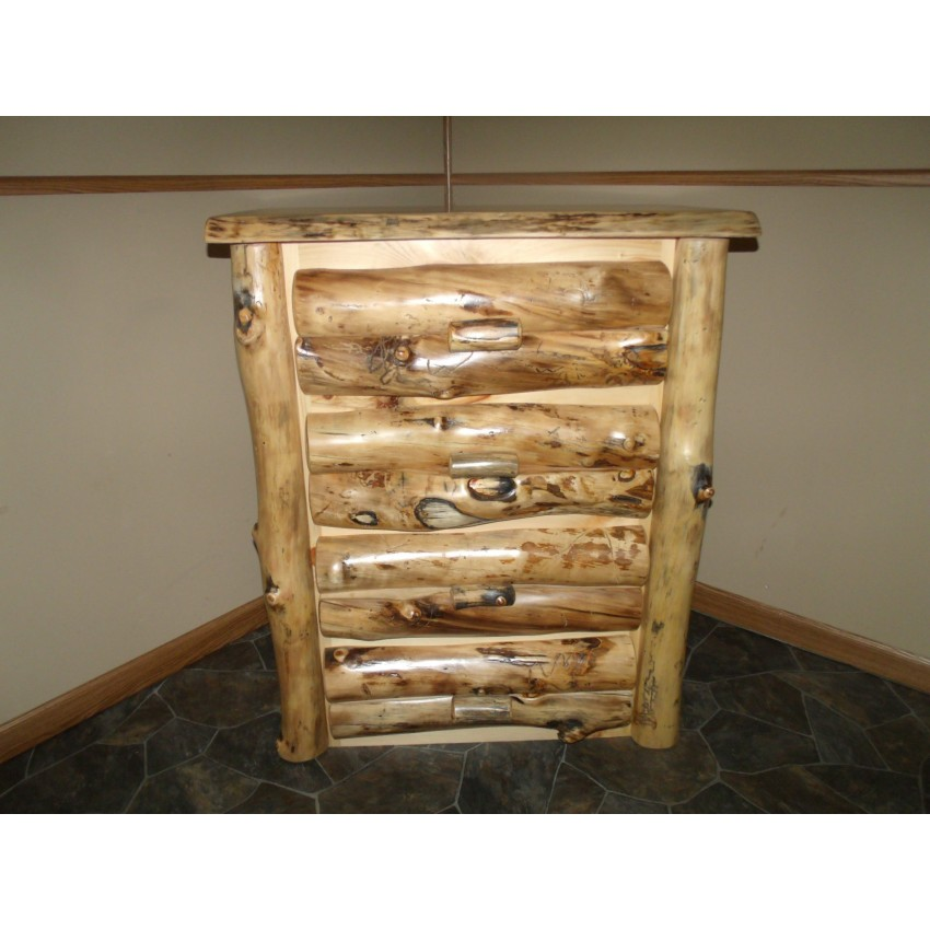 Aspen log furniture for Bed and dresser set