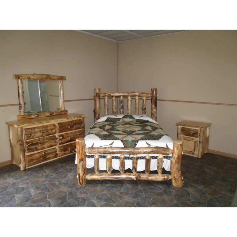 furniture reclaimed aspen htm lg wood rustic bedroom log bed index