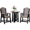 Poly Outdoor Adirondack Balcony Set