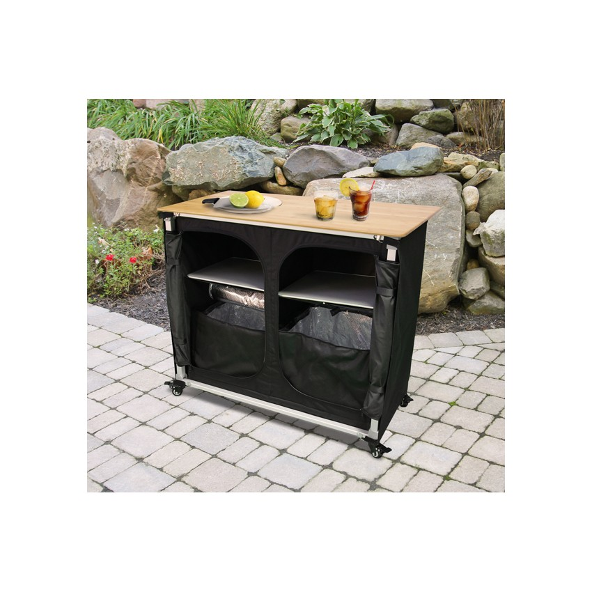 Portable Home Bars Furniture Mobile Bar And Wine Cabinet In Walnut And Stainless Steel By