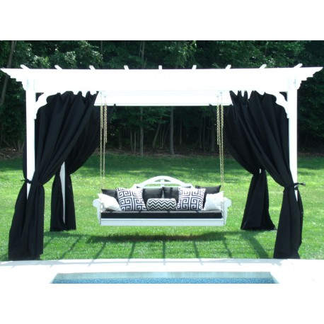 8x10 pergola set with outdoor curtains