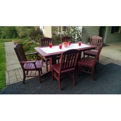 """Poly Lumber Wood Patio Set- 60"""" Rectangle Table and 4 Classic Chairs"""