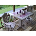 "Poly Lumber Wood Patio Set- 33"" Square Table and 2 Royal Swivel Bar Chairs"
