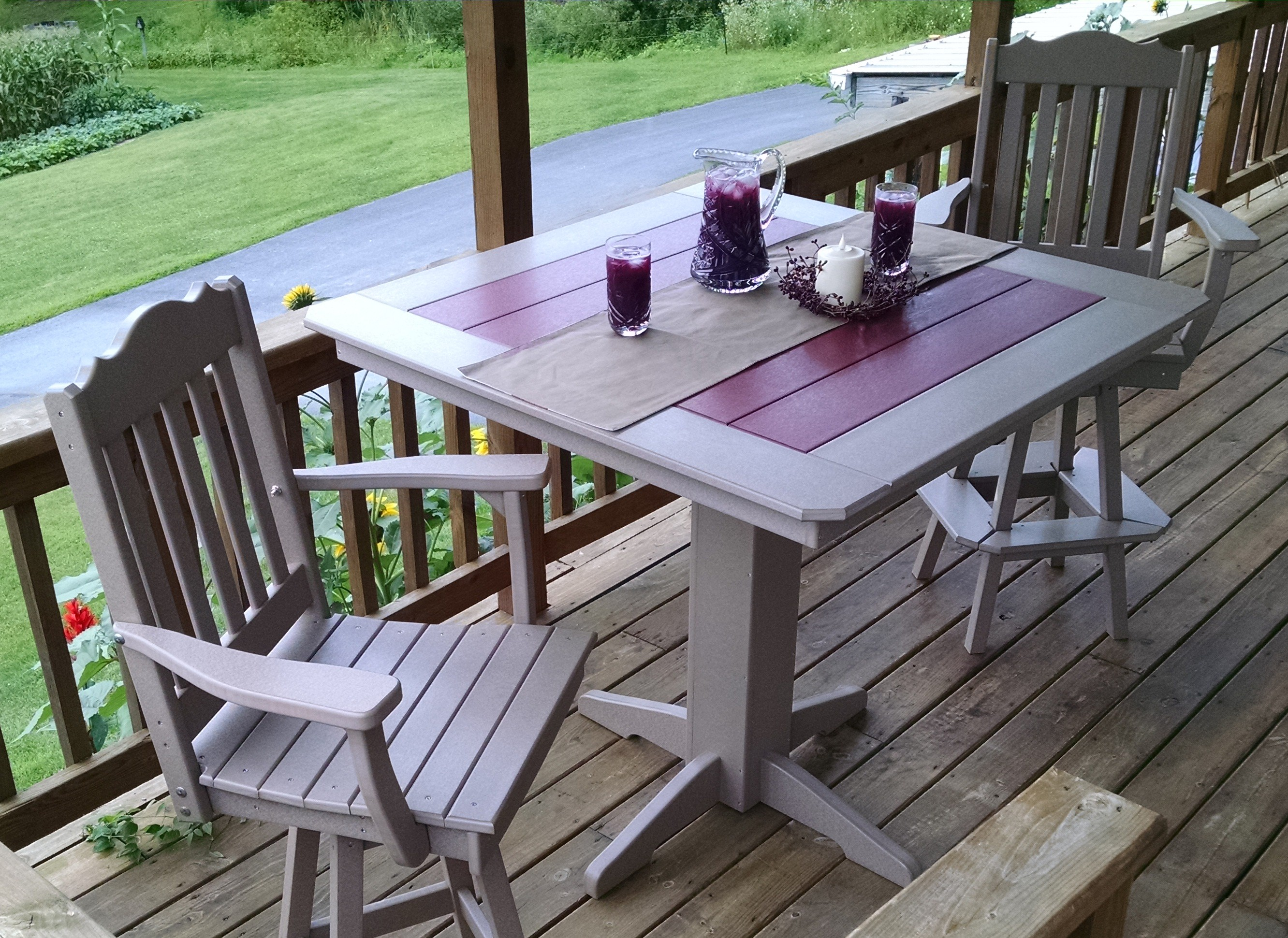 """Poly 33"""" Square Table Set"""