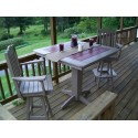 "Poly Lumber Wood Patio Set- 44"" Square Table and 4 Royal Swivel Bar Chairs"