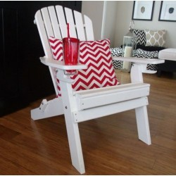 Basic 7 Slat Adirondack Chairs with 2 cup holders