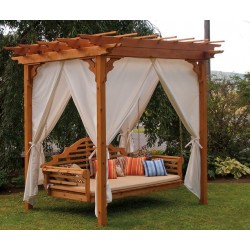 Curtains for 6'X8' Pergola - 8 Panels with Hangers