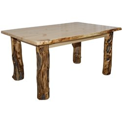 Rustic Aspen Log Kitchen Table