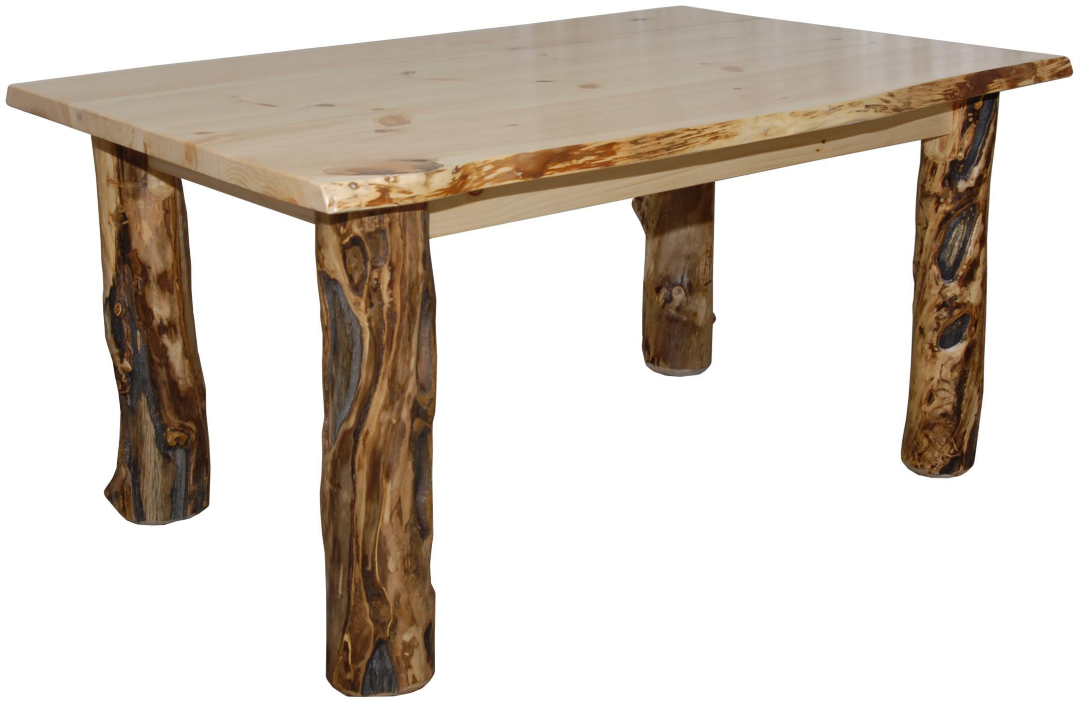 Log Kitchen Tables Rustic aspen log dining table in various sizes workwithnaturefo