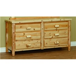 Finished White Cedar 6 Drawer Dresser- Classic