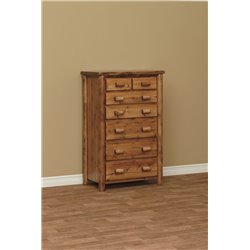Finished White Cedar 7 Drawer Chest- Classic